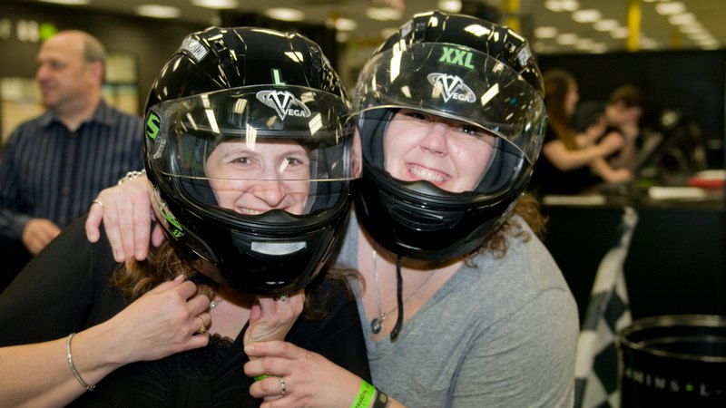 2 happy girls wearing helmets | Group & Private Party
