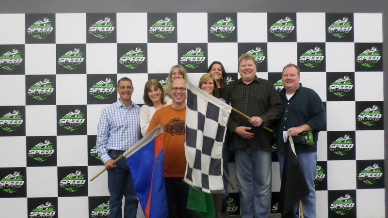 Group of smiling people | Group & Private Party at Speed Raceway's