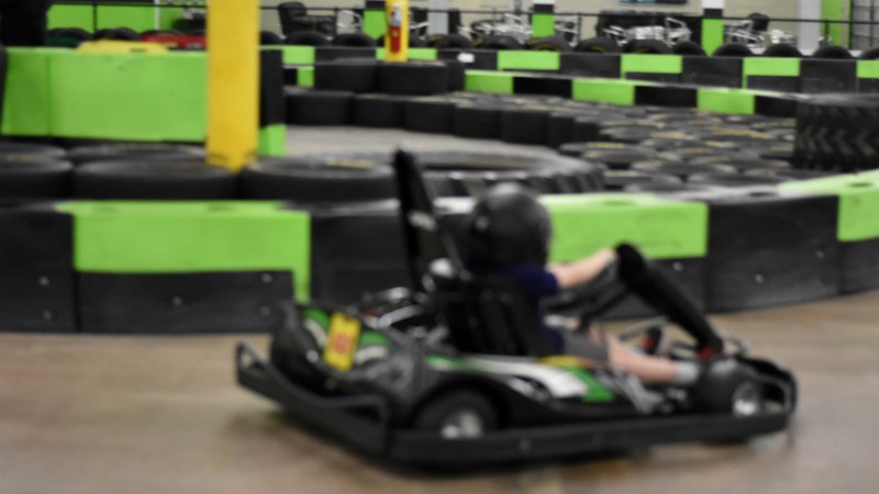 Cart in the indoor carting track | Speed Raceway